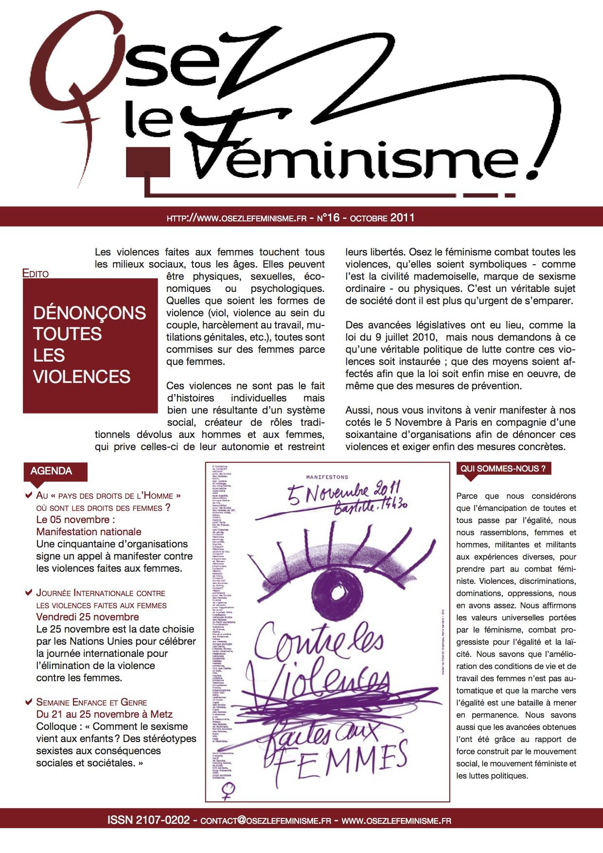Journal 16 d'Osez le féminisme !