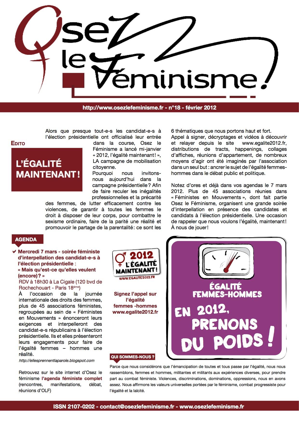 Journal 18 d'Osez le féminisme !