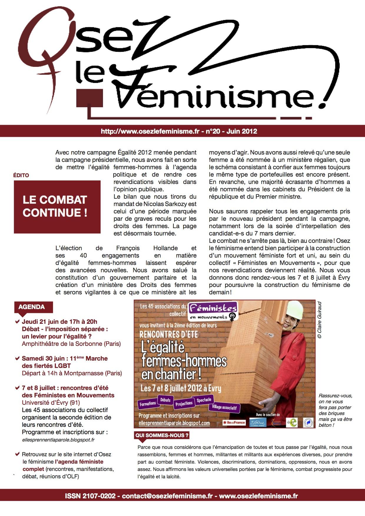 Journal 20 d'Osez le féminisme !