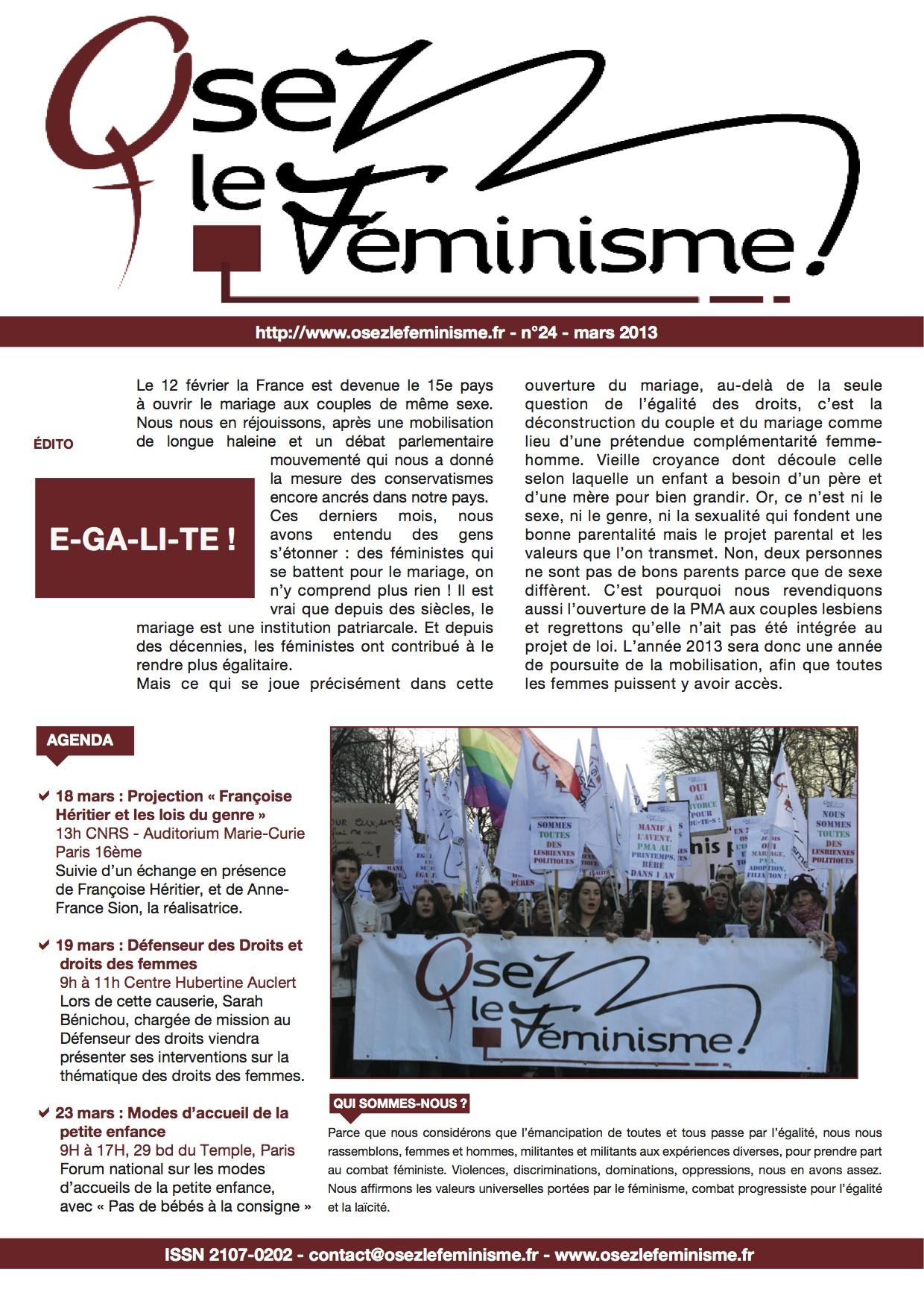 Journal 24 d'Osez le féminisme !