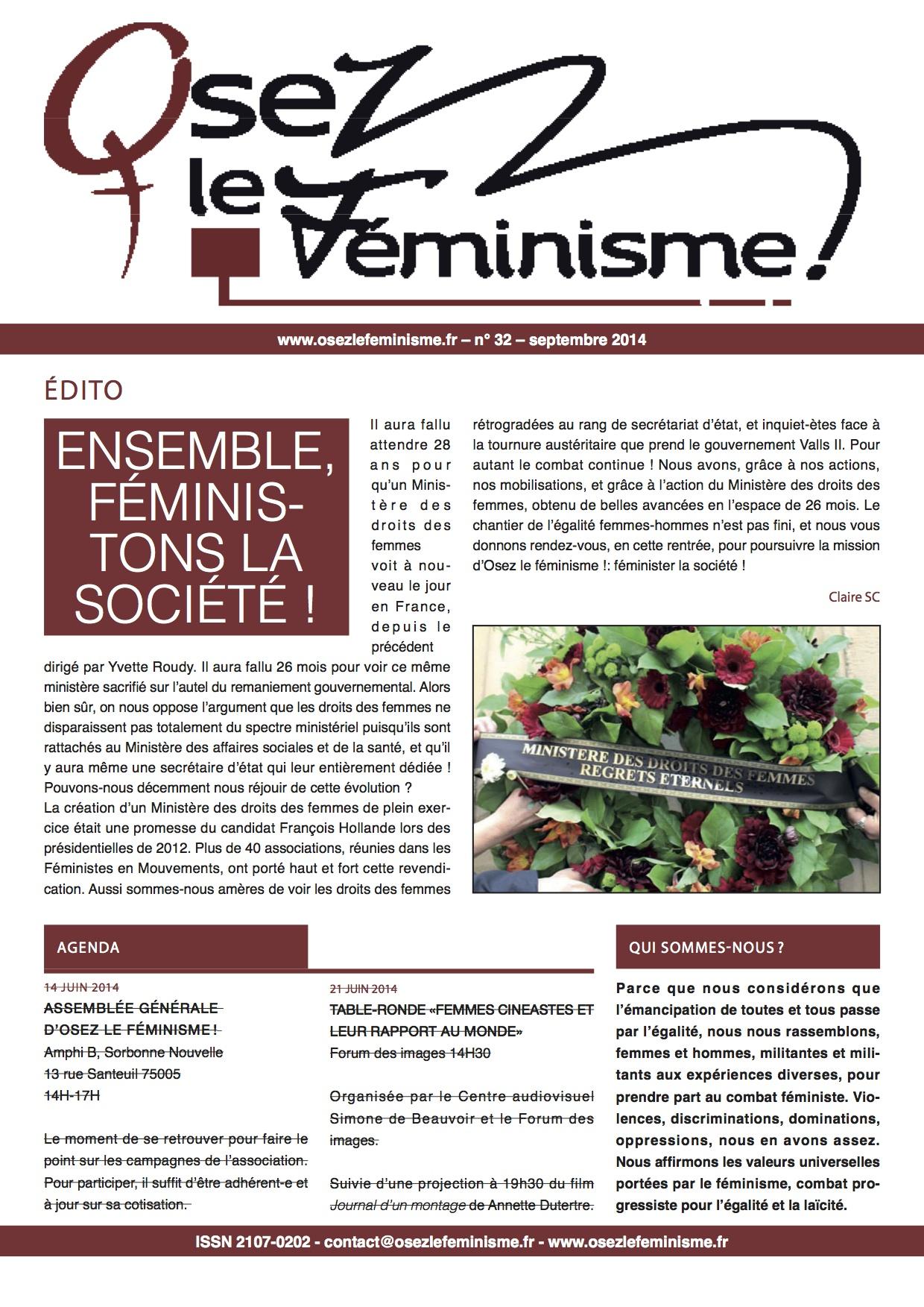 Journal 32 d'Osez le féminisme !