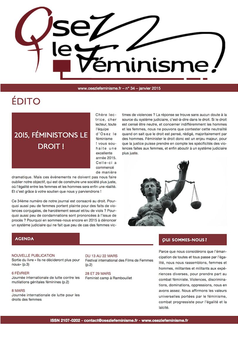 Journal 34 d'Osez le féminisme ! L