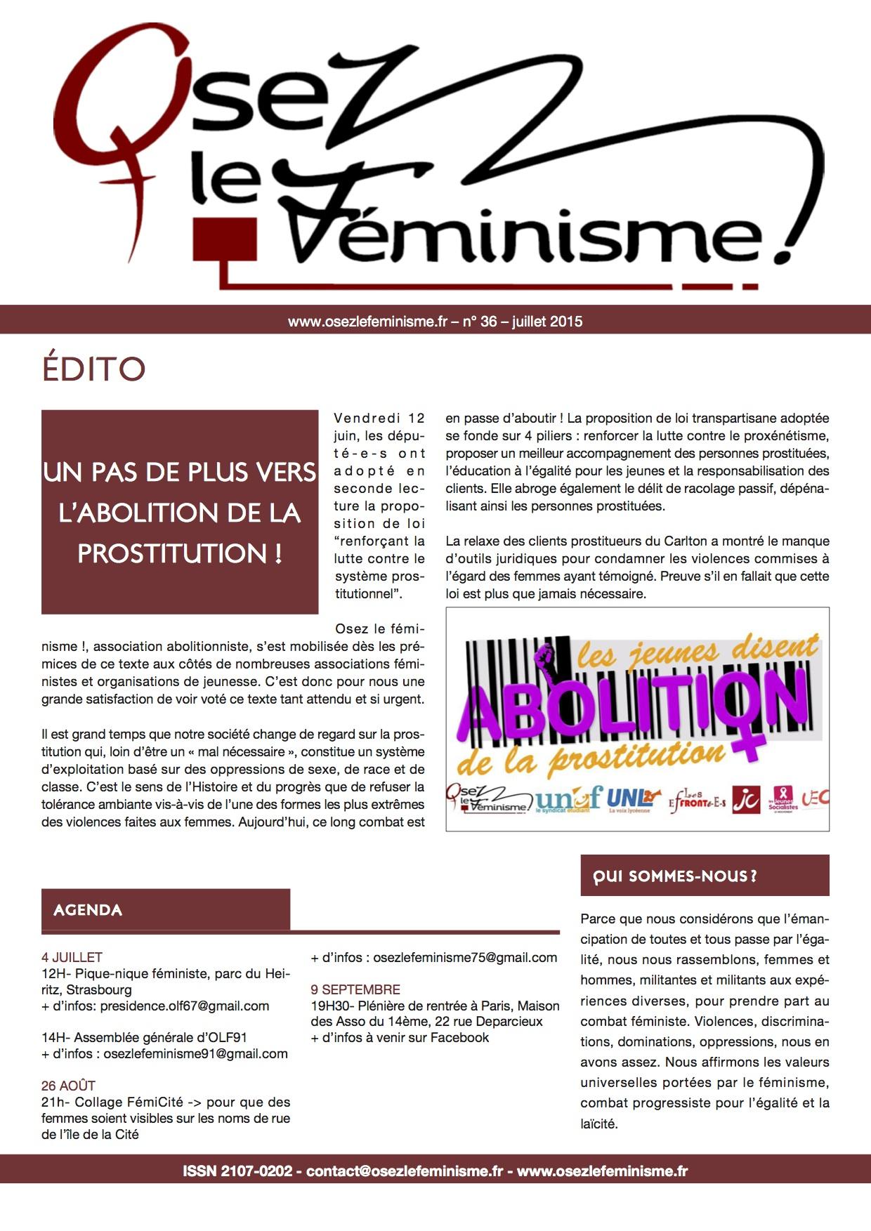 Journal 36 d'Osez le féminisme !