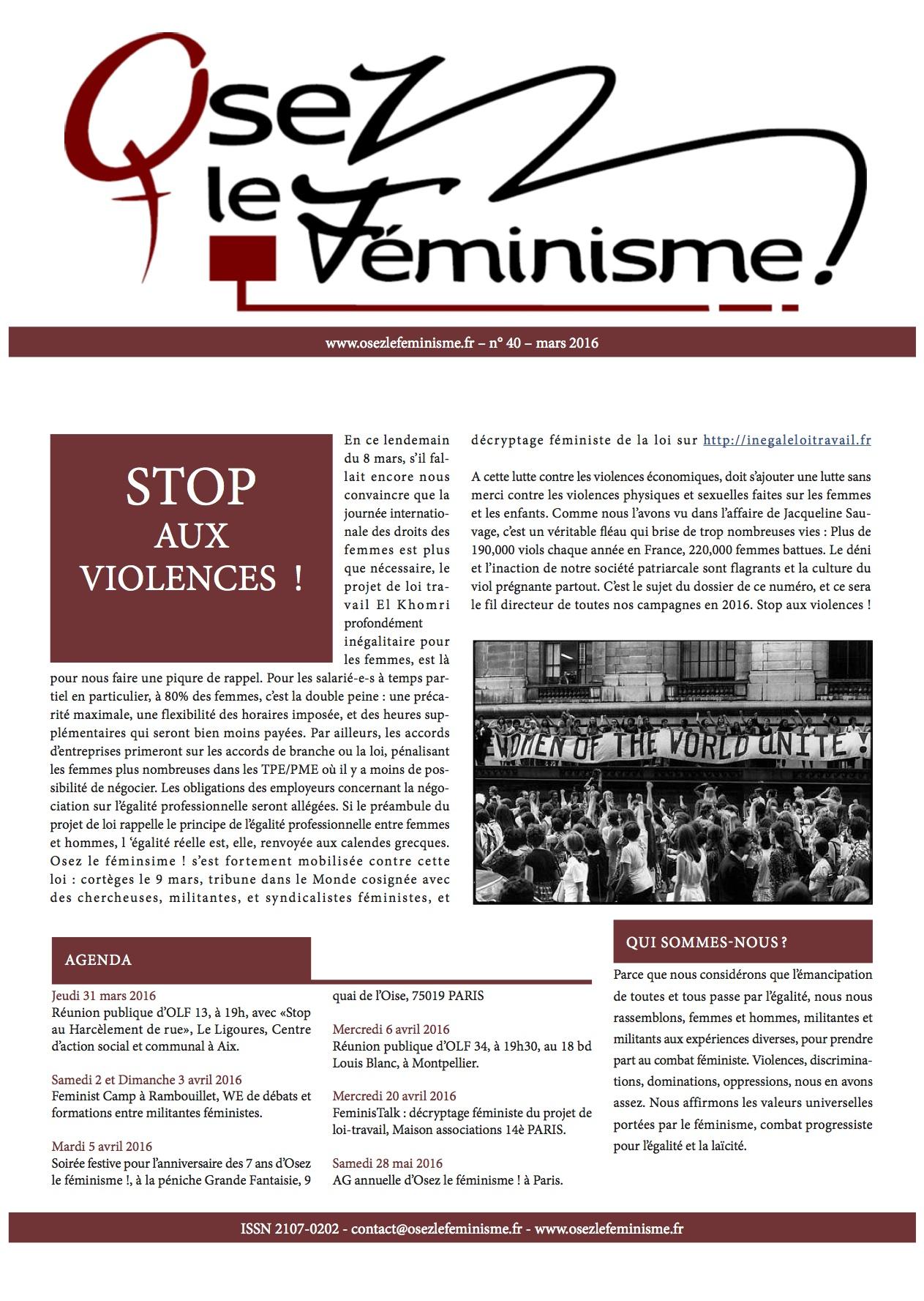 Journal 40 d'Osez le féminisme !
