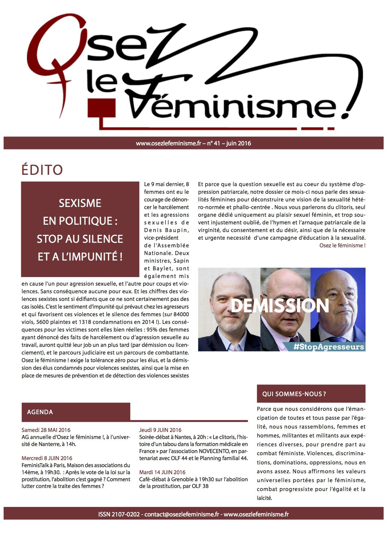 Journal 41 d'Osez le féminisme !