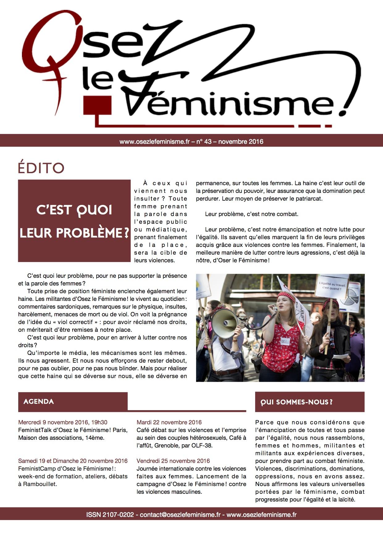 Journal 43 d'Osez le féminisme !