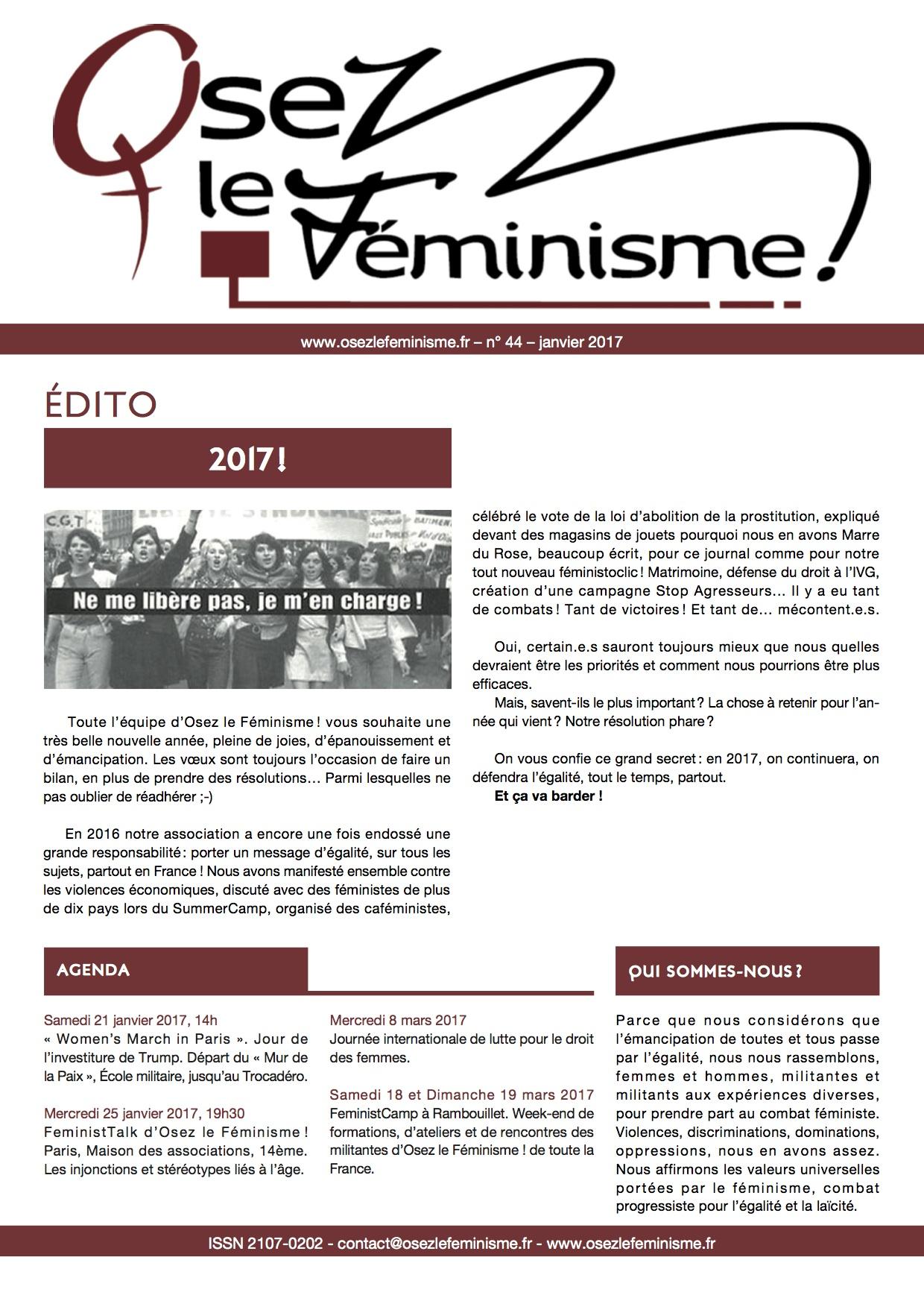Journal 44 d'Osez le féminisme !