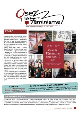Journal 51 d'Osez le féminisme !-cov