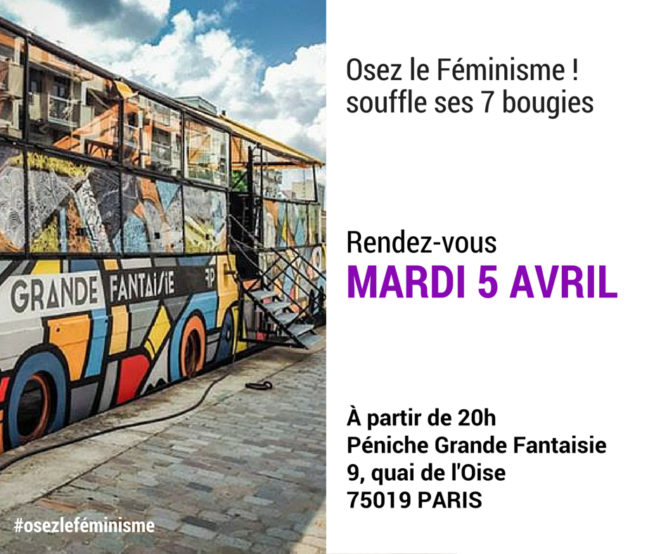 Save the date - péniche 05 04 2016