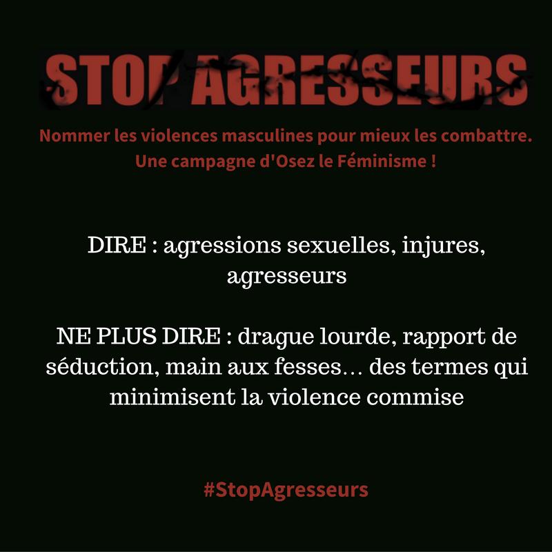 Nommer les violences masculines pour mieux les combattre avec Osez le Féminisme !