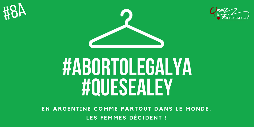 #AbortoLegalYa #QueSEALEY publi twitter
