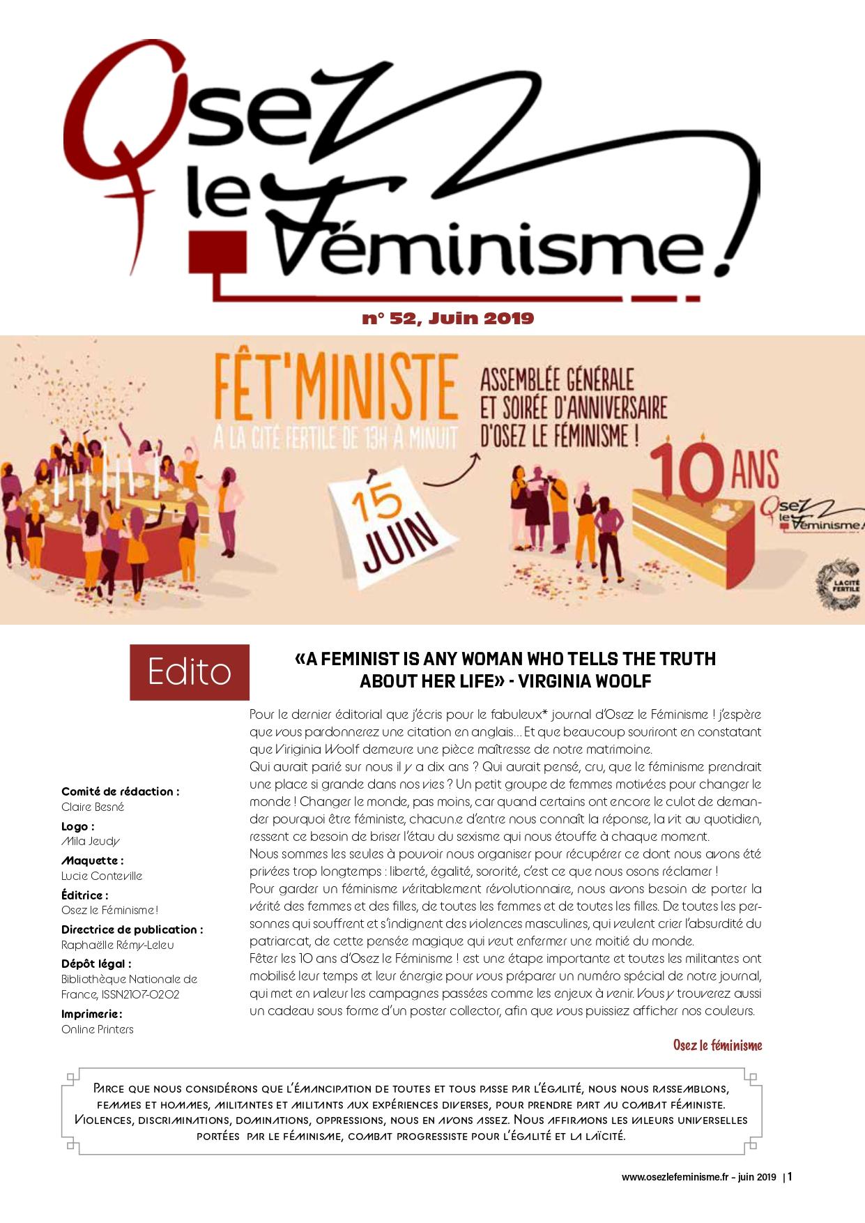 Journal 52 d'Osez le Féminisme !