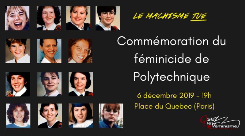 Commémoration des 30 ans du massacre anti-féministe de Montreal