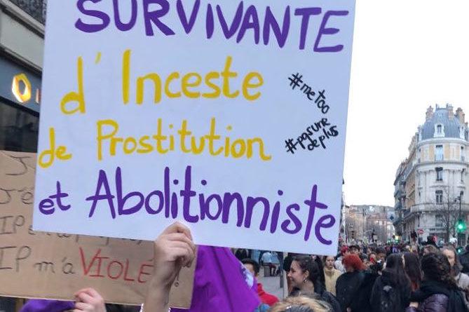 Des femmes, des survivantes de la prostitution, agressées lors des manifestations du 8 mars !