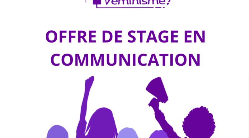 Offre de stage en communication !