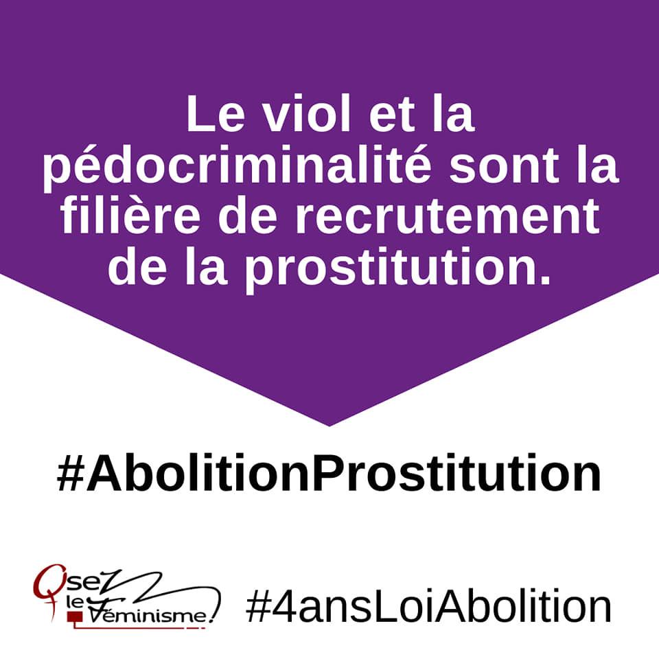 Le viol et la pédocriminalité sont la filière de recrutement de la prostitution #abolitionProstitution