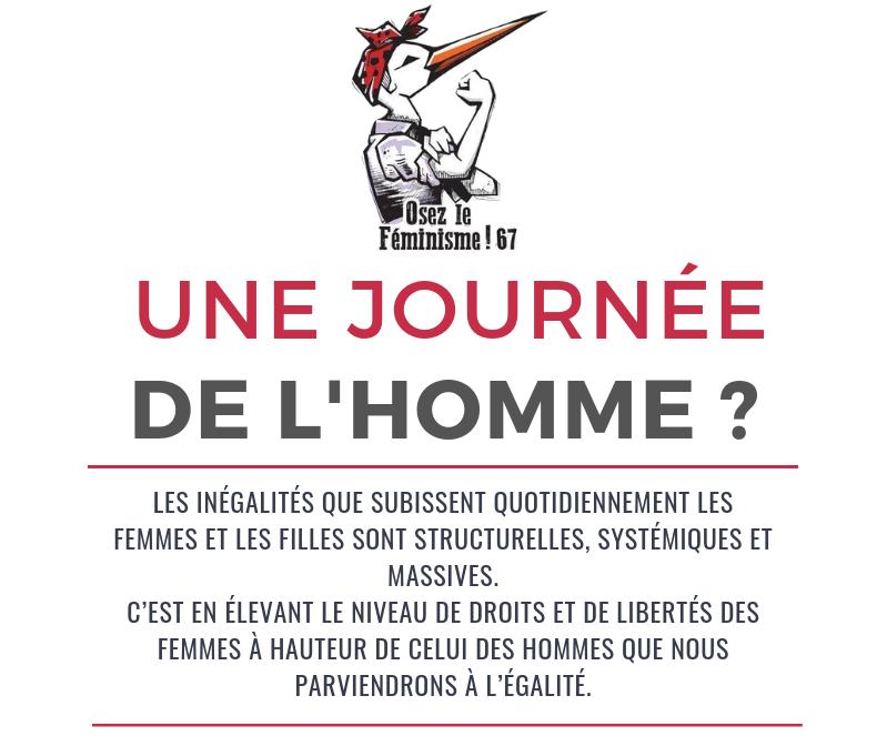 [CP] Une « Journée de l'homme » contre l'égalité !