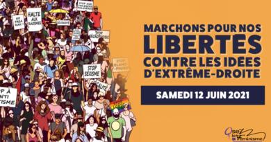 Le 12 juin,  marchons pour nos libertés Contre les idées d'extrême-droite !